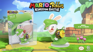 Mario + Rabbids: Kingdom Battle - Rabbid Luigi / Lapin Luigi: 3 Inches Figurine