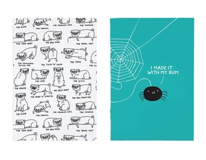 Ohh Deer Pug Positions/Spider A5 Notebook [Pack of 2]