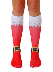 LIVING ROYAL SANTA BOOTS WOMEN'S KNEE HIGH SOCKS