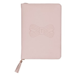 TED BAKER A5 TASSEL FOLIO PINK