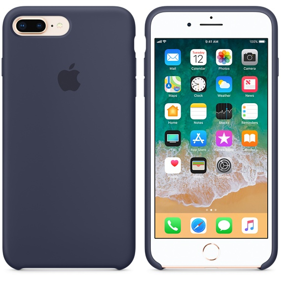 Apple Silicone Case Midnight Blue For Iphone 8 Plus7 Plus Iphone