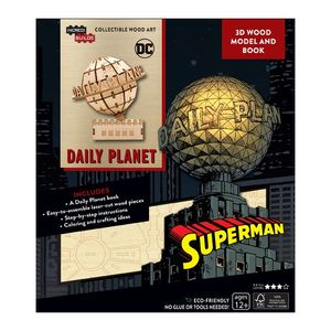 Incredibuilds Dc Comics Superman Daily Planet 3D Wood Model And Book