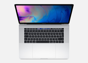 MacBook Pro 15-inch with Touch Bar Silver 2.6GHz 6-Core 9th-Generation Intel-Core i7/256GB Arabic/English