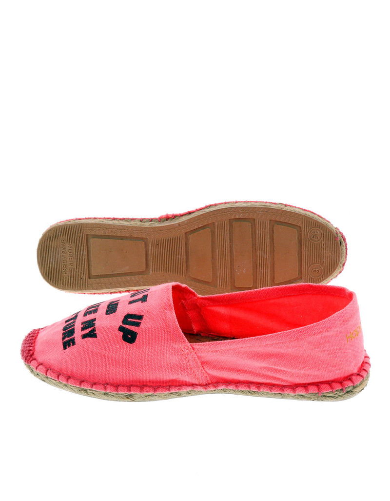 Fuxia Shut Up Pink Women'S Espadrillas Size 39