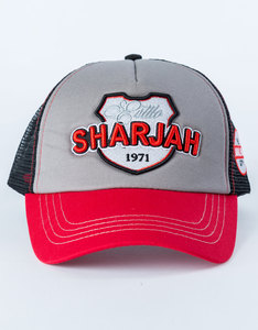 B180 Estillo Sharjah1 Red/Grey Cap