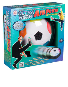 Toysmith Ultra Glow Air Power Soccer Disc