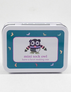 Apples To Pears Mini Sock Owl in a Tin