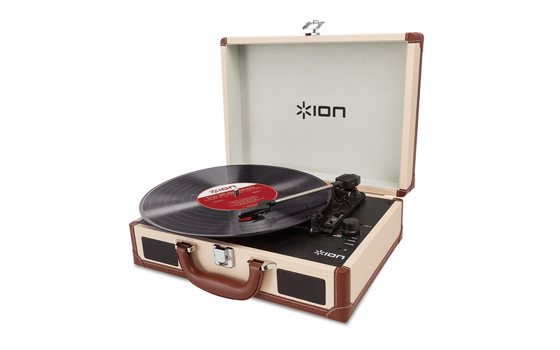 ION Vinyl Motion Deluxe Cream Turntable