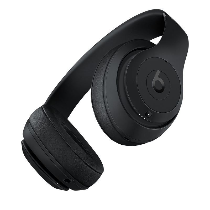beats studio3 matte black wireless over ear headphones on ear headphones headphones. Black Bedroom Furniture Sets. Home Design Ideas