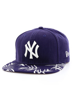 New Era Sandwash Visor Print NY Yankees Navy/Optic White Cap