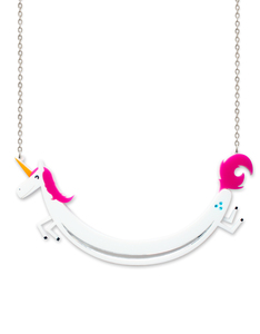 Little Moose Space Unicorn Sausage Necklace