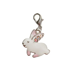 Bombay Duck White Rabbit Charm