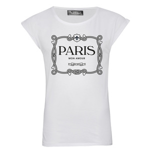 Saint Noir Paris Mon Amour  Rolled Sleeves Women's T-Shirt