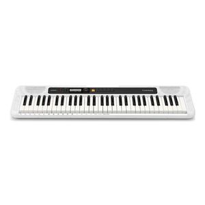 Casio Casiotone CTS-200 61-Key Portable Electric Keyboard White + ADE95100LE Power Adapter