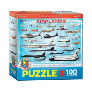 Eurographics Airplanes 100 Pcs Jigsaw Puzzle