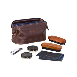 Ted Baker Walnut Shoe Shine Kit