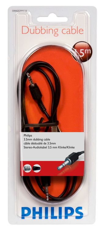 Philips 100 Series 3.5mm Male To Male Audio Cable 1.5M