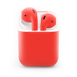 Craft Apple AirPods Gen 2 Red Matte with Wireless Charging Case