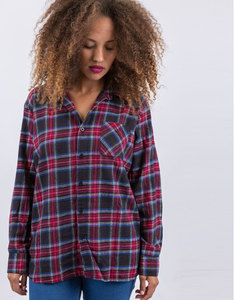 Music Is The Answer Custom Flannel Red Plaid Woven Shirt