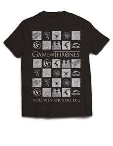 Plastichead Game Of Thrones You Win Or You Die Black T-Shirt