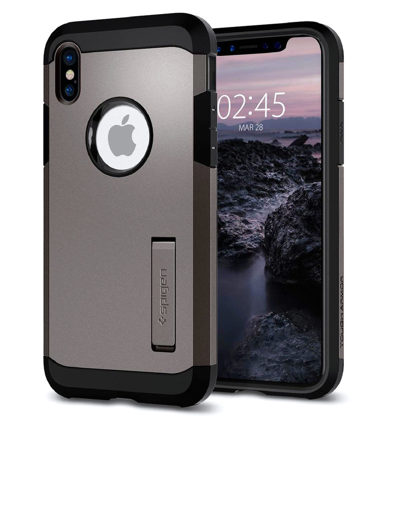 wholesale dealer e8e19 c93b0 Spigen Tough Armor Case Gunmetal For iPhone X
