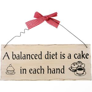 Something Different a Balanced Diet Hanging Sign