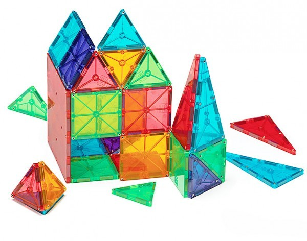 Magna-Tiles Clear Colors 100 Piece Building Set