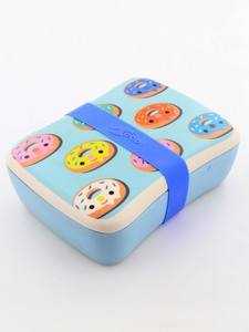 Petit Monkey Bamboo Lunchbox Donuts Blue