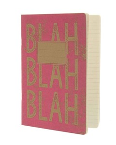 Go Stationery Blah Blah Kraft Typo Large Exercise Book