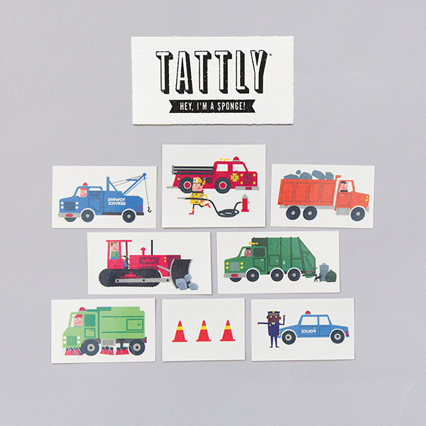 Tattly Traffic Temporary Tattoo Set