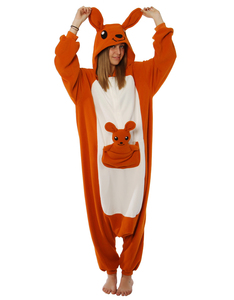 Kangaroo Kigurumi Adult Fleece Costume