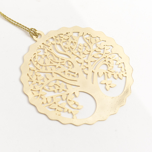 Letternote Tree Of Life 24K Gold Plated Metal Bookmark