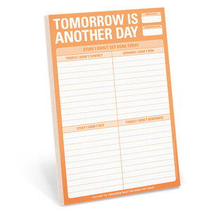 Knock Knock Pads Tomorrow Is Another Day Notepad