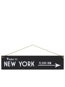 I Want It Now New York Wooden Location Sign