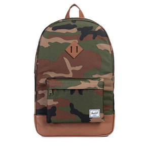 Herschel Heritage Woodland Camo/Tan Synthetic Leather Backpack