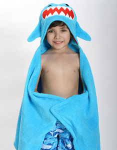 Zoocchini Sherman The Shark Blue Bath Towel