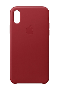 Apple Leather Case Red for iPhone X