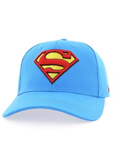 Superman Logo Unisex Baseball Cap Medium Blue Osfa