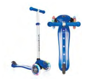 Globber Primo Fantasy Lights Stars & Strips Navy Blue Scooter