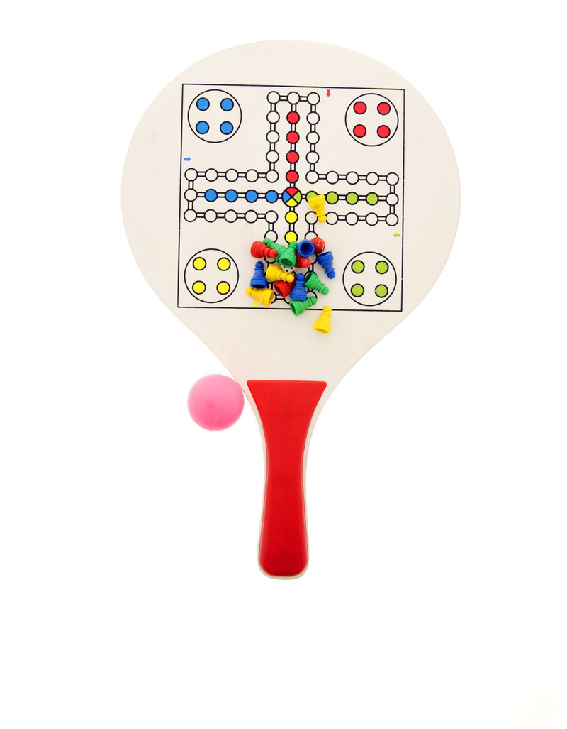 Cadeau Set De 2 Raquettes Beach Ball Domino