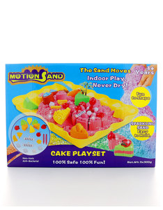 Motion Sand 3D Sparkling Sand Box Cake Playset