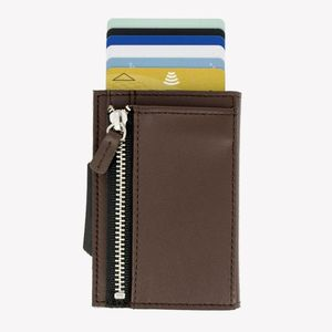 Ogon Cascade Zipper Wallet Brown