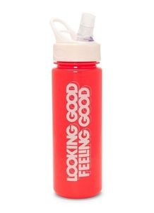 Bando Work It Out Water Bottle Looking Good Feeling Good Red 24 oz