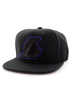 Mitchell & Ness Los Angeles Lakers Filter Black Snapback Cap