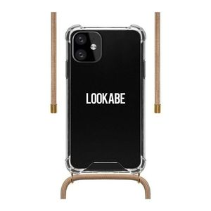 Lookabe Necklace Clear Case + Nude Cord for iPhone 11