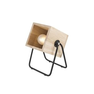Leitmotiv Table Lamp Hefty Square Black/Natural