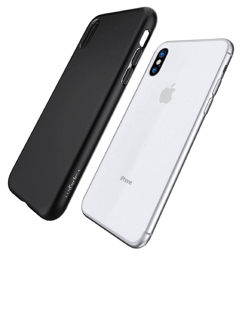 official photos e8b3d 7894a Spigen Liquid Crystal Case Matte Black For iPhone X