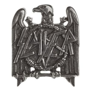 Slayer Eagle Pin Badge Silver