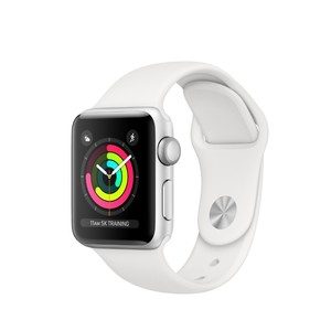 Apple Watch Series 3 GPS 38mm Silver Aluminium Case with White Sport Band