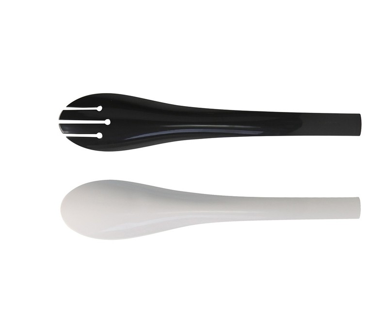 Kats Salad Server Black